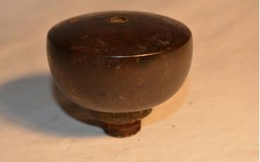 37 Plain round yxing damper from opium den in Siam circa 1920