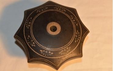 27 Octogonal black Yxing damper from Shangai region circa 1900