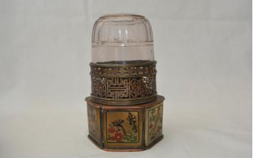 10 Chinese Brass and cloisonne Lamp Shanghai region circa 1930