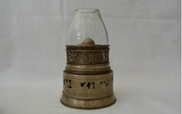 12 Chinese Paktong lamp Suzhou region Qing Dynasty