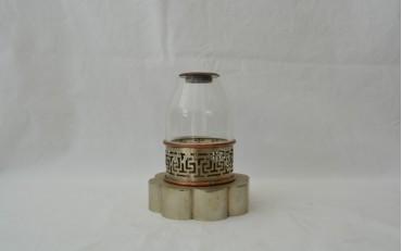 17 Copper and Paktong lamp Shanghai region circa 1930