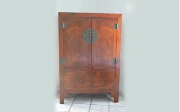 19. A beautiful burlwood wedding cabinet from Peking region Qing dynasty