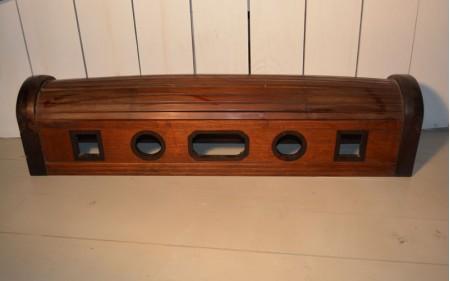 7 large wooden opium pillow